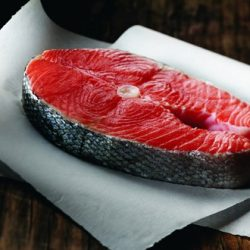 """Wild"" Alaskan King Salmon Steaks - per lb-0"