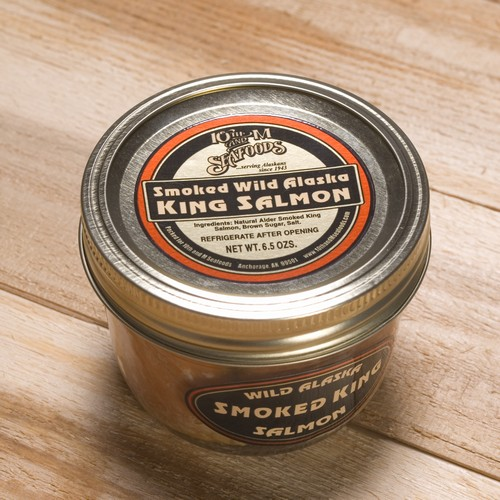 Smoked King Salmon 6.5 oz Jar-0
