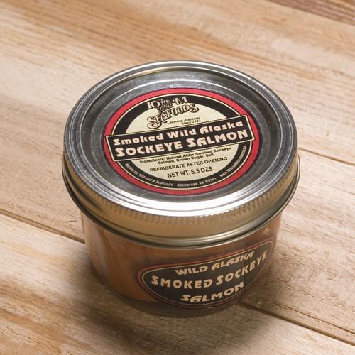 Smoked Red Salmon 6.5 oz Jar-0