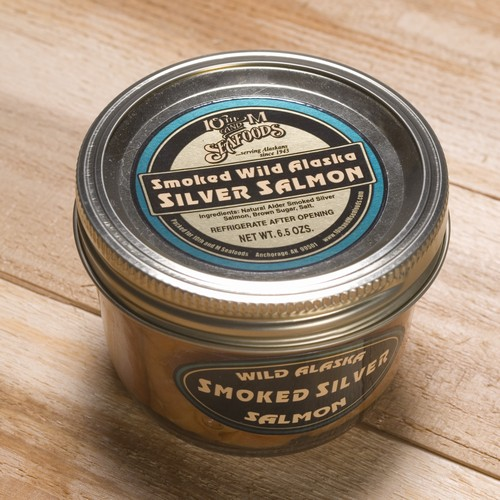Smoked Silver Salmon 6.5 oz Jar-0
