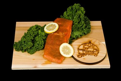 Smoked King Salmon Fillet - Cajun Style-0