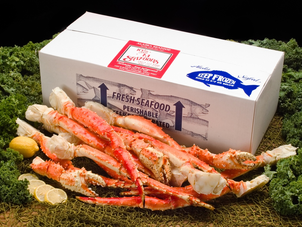 10 lbs - Colossal Alaskan Red King Crab Legs & Claws-0
