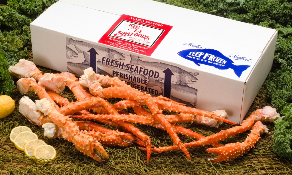 5 lbs - Jumbo Alaskan Golden King Crab Legs & Claws-0