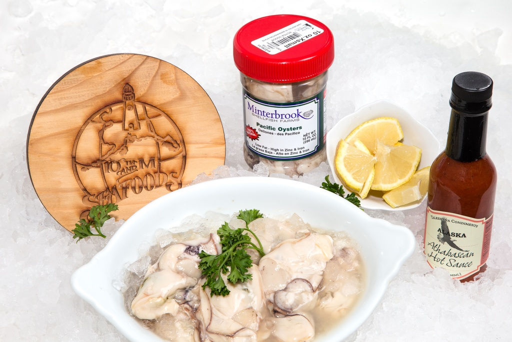 Fresh Extra Small Shucked Pacific Oysters - 10oz Jar-0