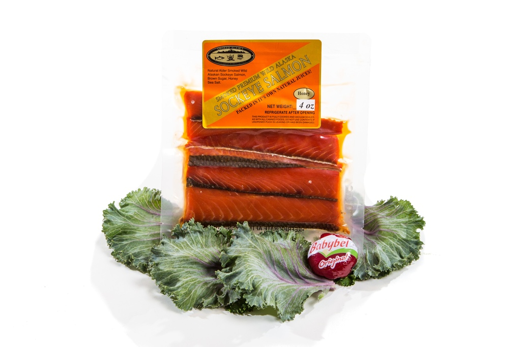 Smoked Sockeye Salmon Pouch/Honey - 4oz.-0
