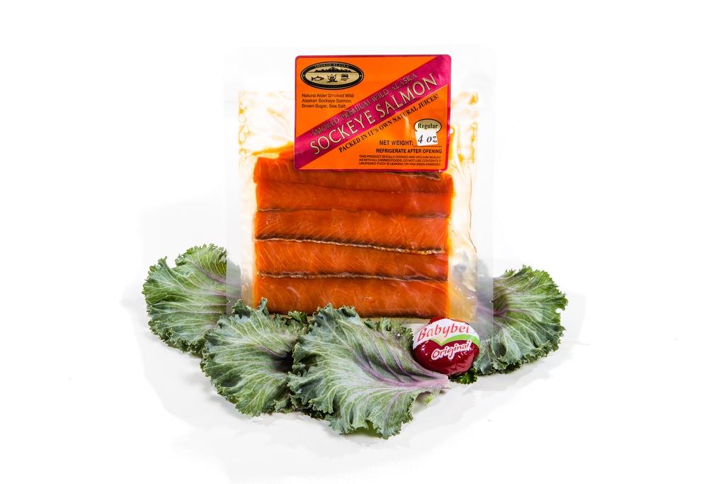 Smoked Sockeye Salmon Pouch/Regular - 4oz-0