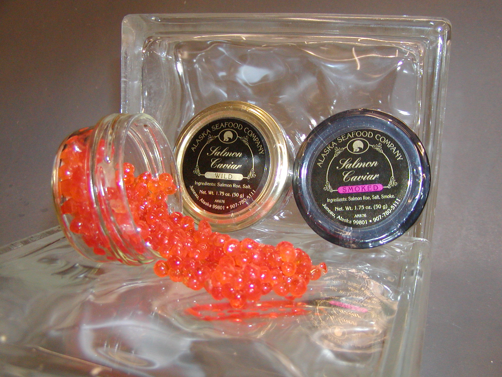 Smoked Salmon Caviar 1.75oz Jar-0