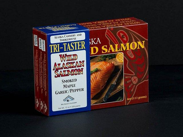 Smoked Salmon Tri-Taster Giftbox 12oz-0